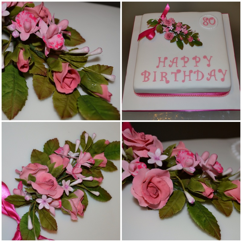 Classic Cake with Flowers
